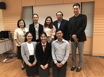 Congratulations to Mr. Thanapol Samthong on the Master of Arts Program. Performing Arts Program